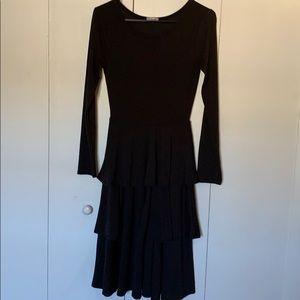 LulaRoe Solid Black Georgia Tiered Dress